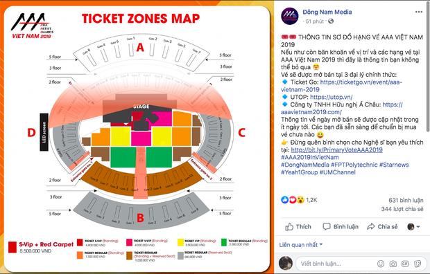 AAA 2019 chính thức công bố các hạng vé, fan nhìn vào đã thấy mòn chân mỏi gối - Ảnh 1.