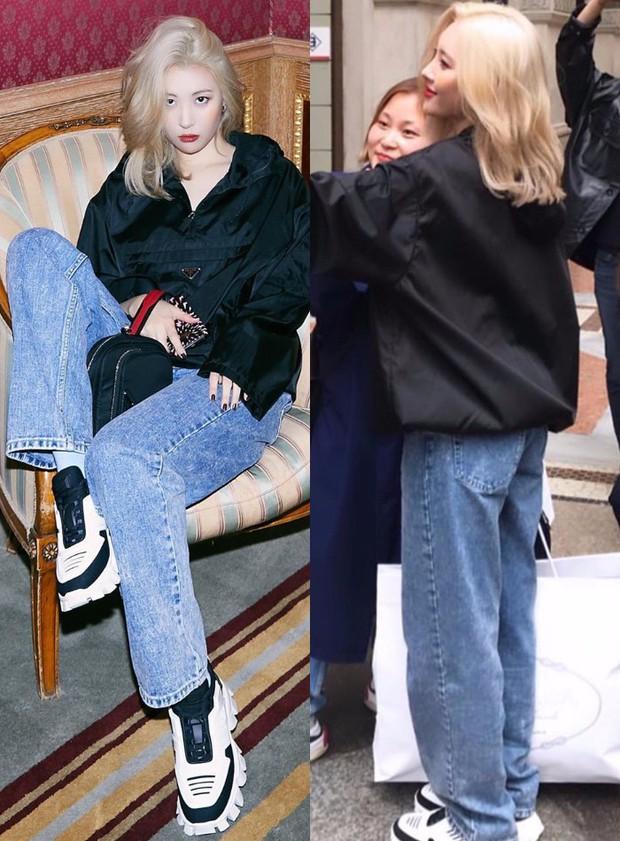 """Quần """"jeans của ông"""" nhìn thì chán mà lại là trào lưu ăn diện của loạt sao Hàn và IT girl, bạn khó có thể làm ngơ - Ảnh 7."""