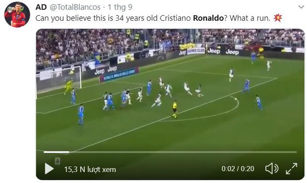 Dân mạng hoang mang trước pha bứt tốc khủng khiếp của Cristiano Ronaldo: Đây là người đã 34 tuổi rồi ư? - Ảnh 3.