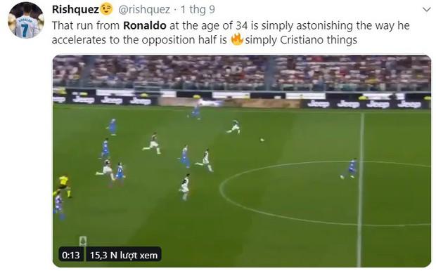 Dân mạng hoang mang trước pha bứt tốc khủng khiếp của Cristiano Ronaldo: Đây là người đã 34 tuổi rồi ư? - Ảnh 4.
