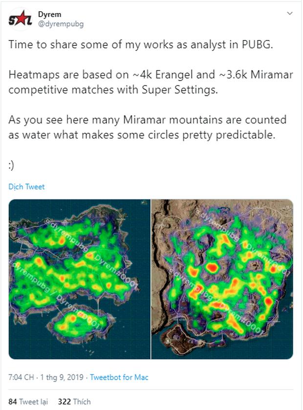 PUBG: Nguyên lý của vòng bo trong Miramar và Erangel đã được giải mã, đây là những điểm mà bo cuối thường thu về nhất! - Ảnh 2.