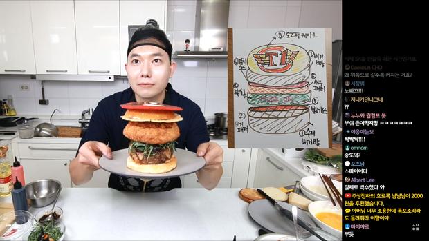 Đầu bếp fan cuồng Faker: Siêu đẹp trai, nổi tiếng Hàn Quốc vừa livestream làm hamburger cực đẹp mừng SKT vô địch LCK - Ảnh 7.