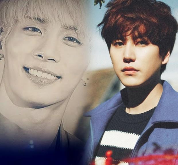 Kyuhyun (Super Junior) rơi nước mắt khi nhắc đến Jonghyun (SHINee) trên show hát giấu mặt - Ảnh 1.