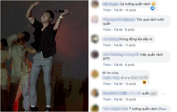 Netizen rần rần phát hiện Sơn Tùng M-TP bị lủng quần, biểu cảm khó đỡ vì quá sung trên sân khấu - Ảnh 1.