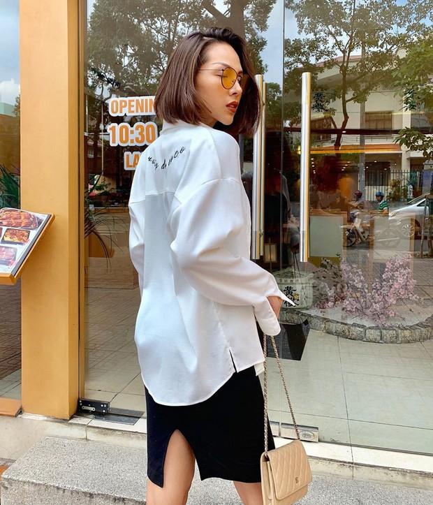 Nàng công sở không bao giờ lo mặc xấu nếu biết 12 công thức diện áo sơ mi trắng tuyệt xinh từ các mỹ nhân Việt - Ảnh 12.