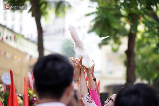 Ngôi trường THPT ở Hà Nội được khen ngợi hết lời vì thả chim bồ câu thay vì thả bóng bay ngày khai giảng - Ảnh 8.