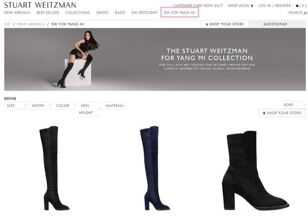 Tưởng không nổi ở trời Tây, Dương Mịch lại được hãng giày hiệu dành riêng một mục long trọng trên website quốc tế - Ảnh 1.