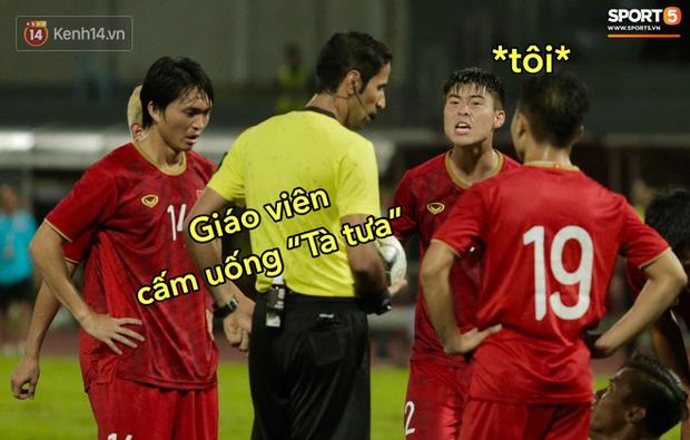 Loạt ảnh chế đội tuyển Việt Nam nở rộ sau trận gặp Thái Lan: Văn Toàn, Duy Mạnh cùng loạt biểu cảm không thể nào đắt giá hơn! - Ảnh 2.