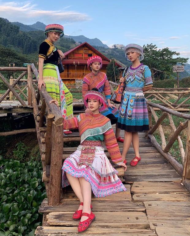 Cười xỉu trước loạt ảnh Sapa đúng chuẩn chị em chúng mình của Chi Pu - Quỳnh Anh Shyn - SunHT: Hình tượng là cái gì cơ? - Ảnh 6.