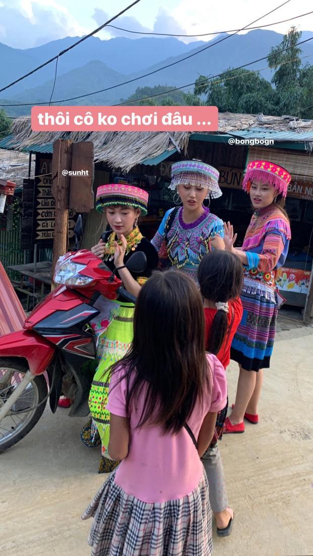 Cười xỉu trước loạt ảnh Sapa đúng chuẩn chị em chúng mình của Chi Pu - Quỳnh Anh Shyn - SunHT: Hình tượng là cái gì cơ? - Ảnh 22.