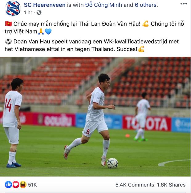 CLB Hà Lan cổ vũ Văn Hậu hạ gục tuyển Thái Lan bằng tiếng Việt của chị google dịch - Ảnh 1.