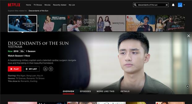Hậu Duệ Mặt Trời bản Việt trở thành phim truyền hình Việt Nam đầu tiên lên kệ Netflix - Ảnh 2.