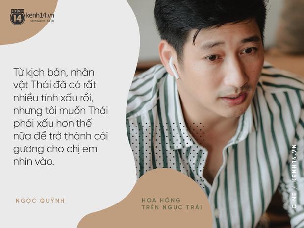"""Ngọc Quỳnh: """"Thái là gã chồng rất đáng thương, một con tốt xoay vần giữa 4 thế lực Hoa Hồng Trên Ngực Trái - Ảnh 11."""