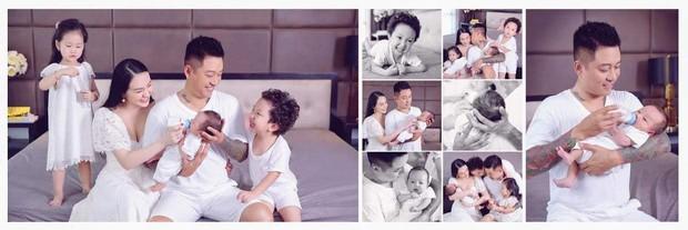Mừng con trai thứ 3 tròn 1 tháng tuổi, vợ chồng Tuấn Hưng chính thức công khai rõ mặt và tên đầy đủ cực đáng yêu của bé - Ảnh 6.
