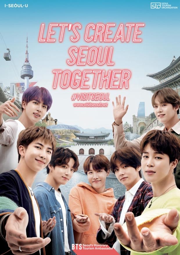 HOT: BTS chính thức trở thành đại sứ quảng bá du lịch Seoul, giờ thì Hàn Quốc sẽ còn đông du khách tới mức nào nữa đây? - Ảnh 1.