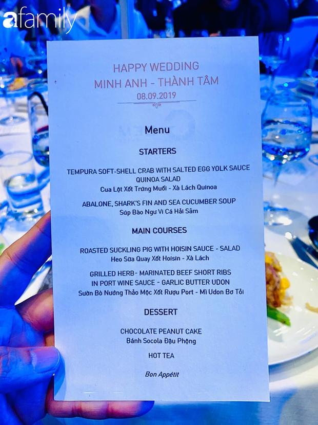 Sốc: Hé lộ thực đơn trong bữa tiệc cưới gần 20 tỷ của con gái đại gia Minh Nhựa, toàn sơn hào hải vị nhưng số lượng món ăn mới gây bất ngờ - Ảnh 6.