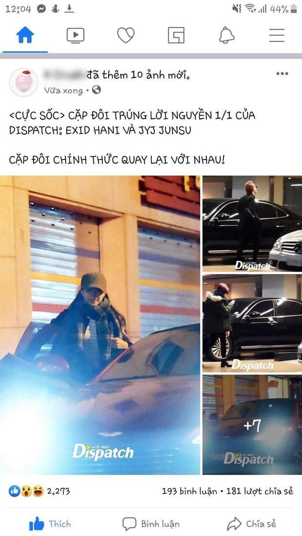 Bộ ảnh hẹn hò ngày 1/1 của Junsu (JYJ) và Hani (EXID) leo lên No.1 Dispatch, dân tình náo loạn tưởng cặp đôi quay lại - Ảnh 1.