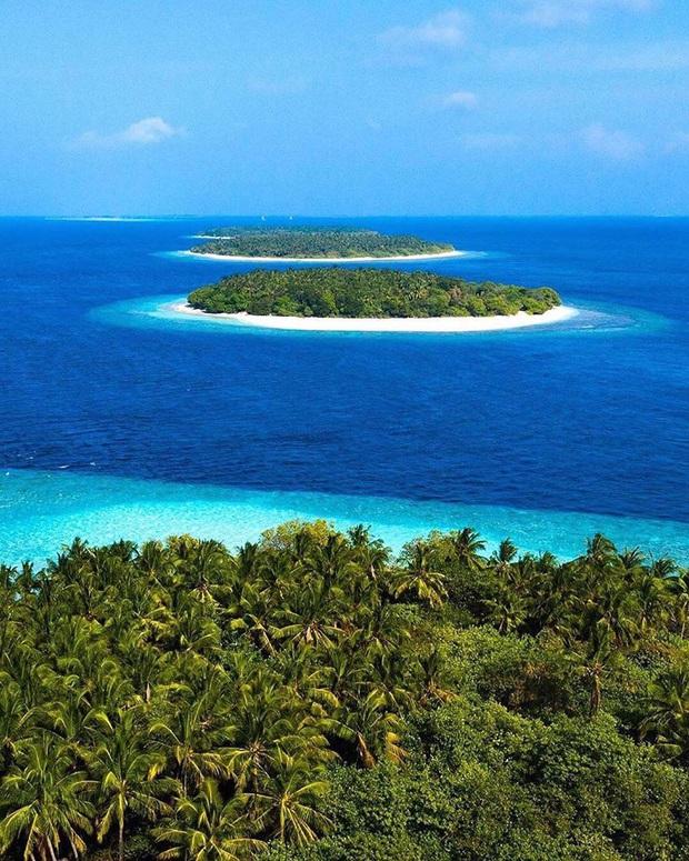 """Muốn biết bàn tay mẹ thiên nhiên kỳ diệu thế nào, cứ nhìn vào 5 hòn đảo """"nằm thẳng tắp thành 1 hàng"""" ở Maldives này sẽ rõ! - Ảnh 8."""