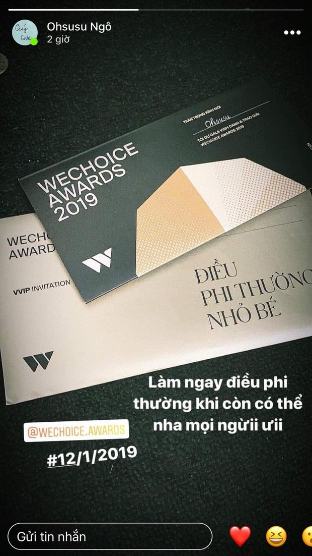 Hot nhất nhì MXH bây giờ chính là thiệp mời Gala WeChoice Awards 2019, dàn khách mời nổi tiếng đua nhau khoe! - Ảnh 4.