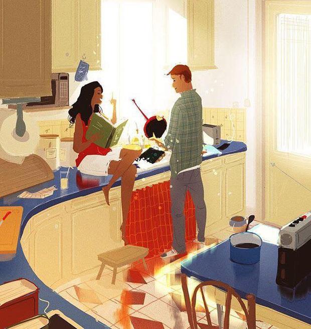 Đàn ông rung đùi uống trà ngày Tết trong khi vợ cắm mặt dọn dẹp nhà cửa: Nói em nghỉ đi để anh làm nhé có khó đến vậy không? - Ảnh 2.