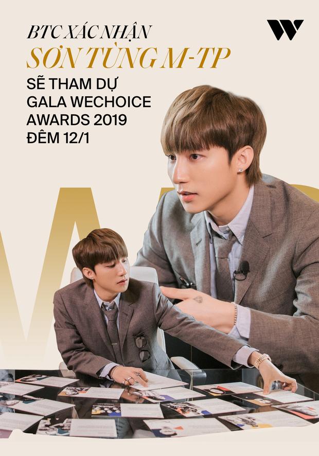 Sơn Tùng M-TP sẽ xuất hiện trên thảm đỏ WeChoice Awards 2019 tối ngày 12/1 cùng 200 nghệ sĩ cực khủng Vbiz! - Ảnh 1.