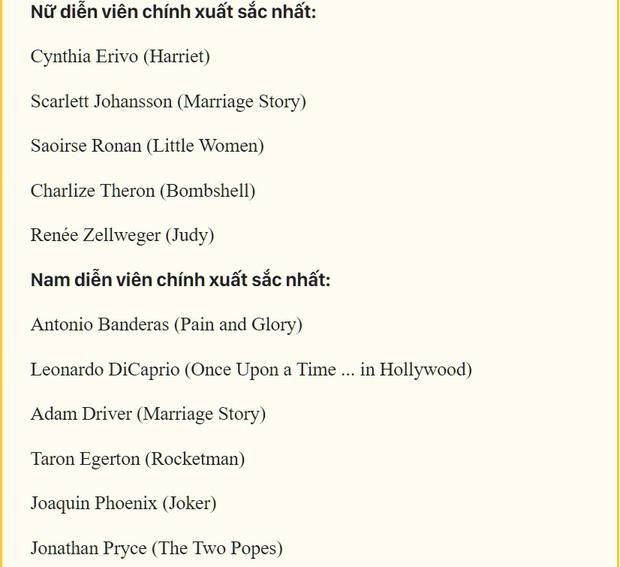 Oscar 2020 ngoài Joker và cái tên đang sốt Kí Sinh Trùng cứ như bê nguyên xi từ Quả Cầu Vàng? - Ảnh 3.