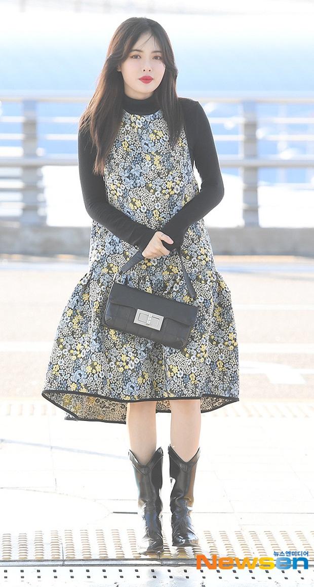 Dàn mỹ nhân Hàn đại chiến visual ở sân bay: Lisa - Rosé (BLACKPINK) xinh muốn ngất, Hani lép vế trước Hyuna và Hyomin - Ảnh 20.