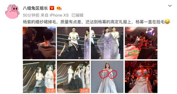Xôn xao cảnh Dương Tử mặc váy kém chất lượng, khiến Dương Mịch ngán ngẩm nhặt lông vũ rơi rụng trên váy đắt tiền - Ảnh 1.