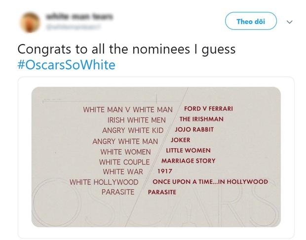 """Netizen bổn cũ soạn lại ồ ạt lên tiếng vì đề cử Oscar 2020 """"toàn mấy ông da trắng""""? - Ảnh 2."""
