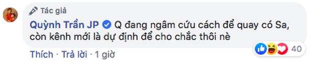 Thông báo lập kênh Youtube mới chỉ là phương án dự phòng, Quỳnh Trần JP đang tìm cách để bé Sa xuất hiện trở lại trong các clip - Ảnh 3.