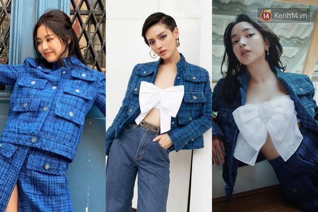 """Jennie chính là """"thánh tạo trend"""" của 2019: Sao Việt và hot girl châu Á copy rần rần, các shop may bắt chước đồ y chang - Ảnh 2."""