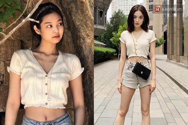 """Jennie chính là """"thánh tạo trend"""" của 2019: Sao Việt và hot girl châu Á copy rần rần, các shop may bắt chước đồ y chang - Ảnh 10."""