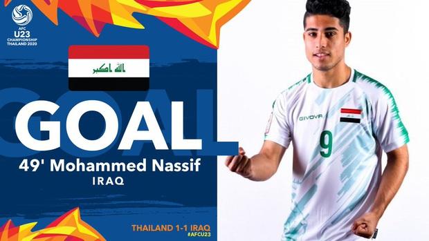 Xuất sắc cầm hòa Iraq, đội tuyển Thái Lan lần đầu tiên trong lịch sử vượt qua vòng bảng giải U23 châu Á - Ảnh 9.