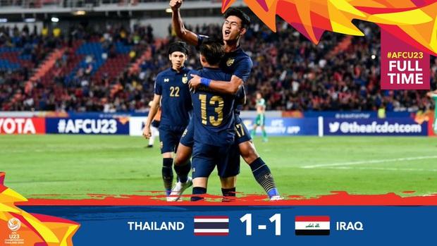 Xuất sắc cầm hòa Iraq, đội tuyển Thái Lan lần đầu tiên trong lịch sử vượt qua vòng bảng giải U23 châu Á - Ảnh 2.
