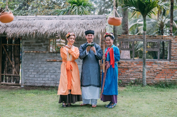 Lâm Vỹ Dạ bị bố chồng Xuân Bắc cho ăn hành trong show Tết - Ảnh 5.