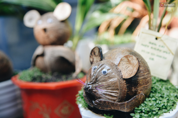 Dừa hình con chuột độc đáo ở Sài Gòn giá gần 1 triệu đồng, khách nườm nượp đặt hàng dịp Tết Canh Tý 2020 - Ảnh 4.