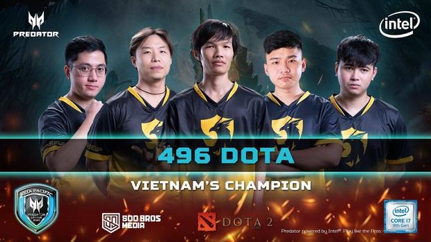496 đang là thế lực vô đối của Dota2 Việt Nam khi vô địch Predator League 2020 với thành tích bất bại - Ảnh 1.