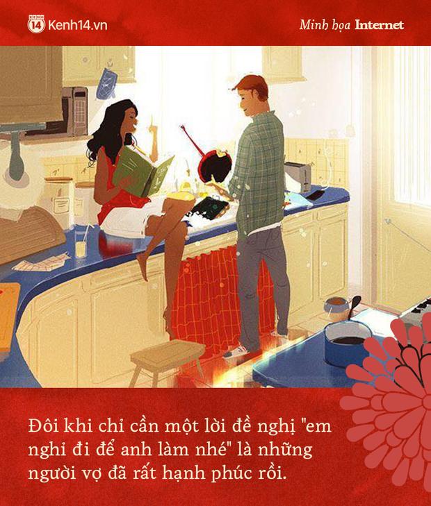 Đàn ông rung đùi uống trà ngày Tết trong khi vợ cắm mặt dọn dẹp nhà cửa: Nói em nghỉ đi để anh làm nhé có khó đến vậy không? - Ảnh 6.