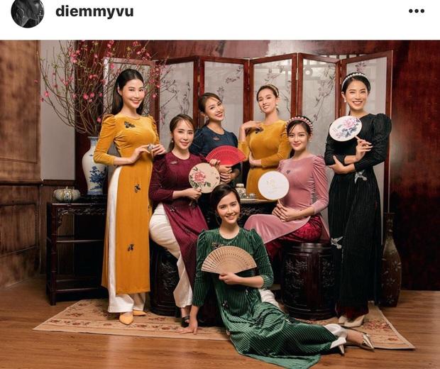 Diễm My 9X cùng dàn diễn viên nữ đình đám miền Bắc diện áo dài kiều diễm, đọ sắc bất phân thắng bại trong 1 khung hình - Ảnh 1.