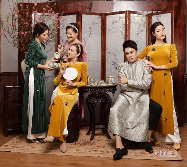 Diễm My 9X cùng dàn diễn viên nữ đình đám miền Bắc diện áo dài kiều diễm, đọ sắc bất phân thắng bại trong 1 khung hình - Ảnh 2.