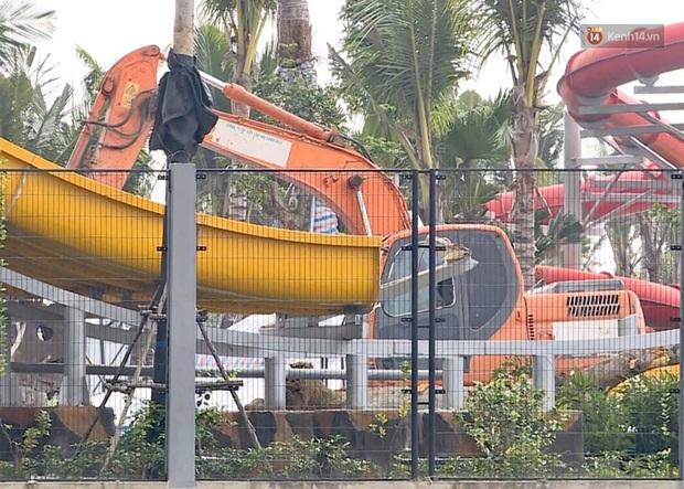 Ảnh: Công viên nước Thanh Hà bị cưỡng chế tháo dỡ sau sự cố khiến 2 bé trai tử vong thương tâm - Ảnh 6.