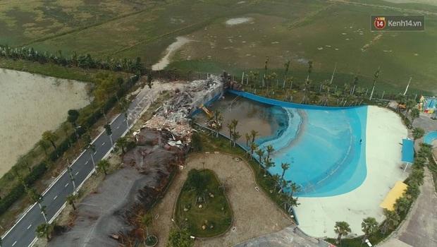 Ảnh: Công viên nước Thanh Hà bị cưỡng chế tháo dỡ sau sự cố khiến 2 bé trai tử vong thương tâm - Ảnh 7.