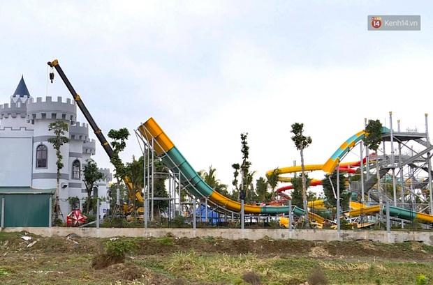 Ảnh: Công viên nước Thanh Hà bị cưỡng chế tháo dỡ sau sự cố khiến 2 bé trai tử vong thương tâm - Ảnh 2.