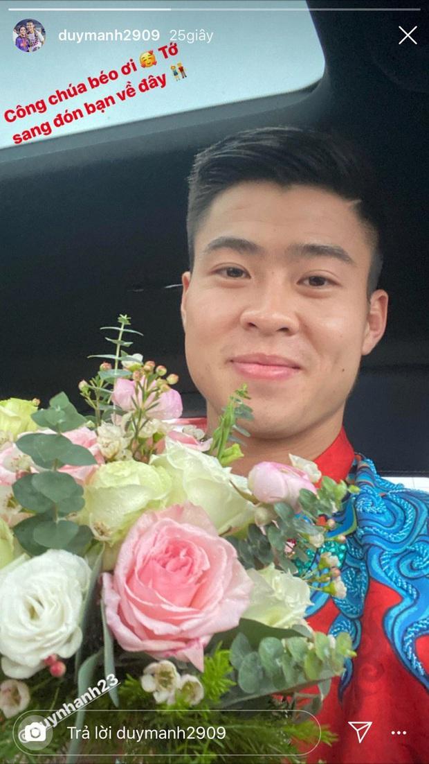 Duy Mạnh cực điển trai, đã lên xe hoa đến đón công chúa béo Quỳnh Anh đưa nàng về dinh rồi! - Ảnh 1.
