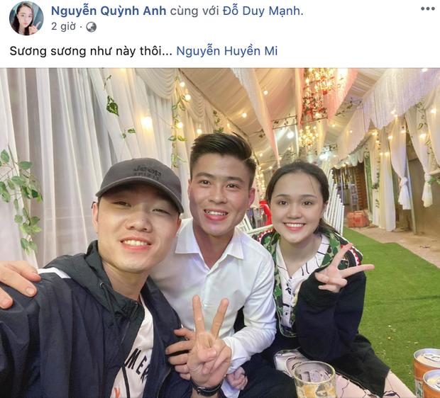 Quỳnh Anh khoe ảnh tươi tỉnh sau lễ ăn hỏi với Duy Mạnh, hạnh phúc với sự ghé thăm của vị khách đặc biệt - Ảnh 1.