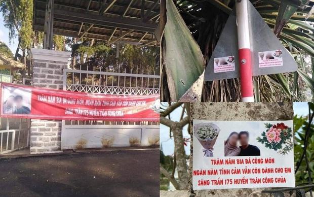 Thanh niên in 60kg banner ảnh và thơ tình dán khắp Đà Lạt để níu kéo bồ cũ: Chả hiểu sao họ nói mình hèn! - Ảnh 1.