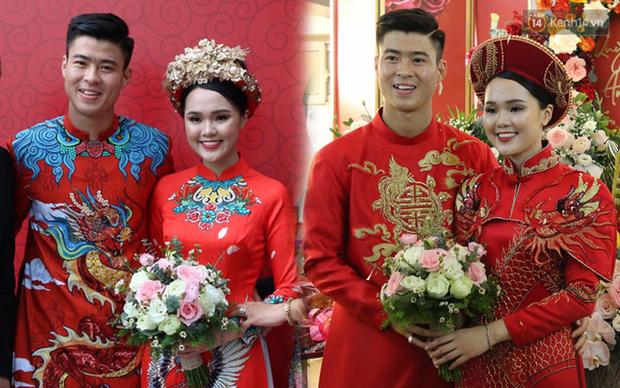Cùng thay tới 2 bộ lễ phục trong ngày ăn hỏi, Duy Mạnh - Quỳnh Anh đúng là cặp đôi ăn chơi nhất nhì vịnh bắc bộ - Ảnh 6.