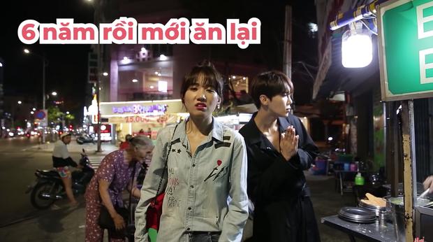 Trốn Trấn Thành, Hari Won dắt trai đẹp Hàn Quốc đi ăn bánh xèo và bánh cống ở quán ăn vỉa hè - Ảnh 5.