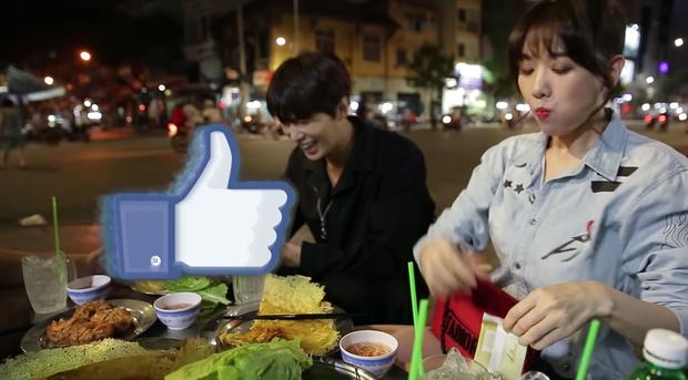 Trốn Trấn Thành, Hari Won dắt trai đẹp Hàn Quốc đi ăn bánh xèo và bánh cống ở quán ăn vỉa hè - Ảnh 8.