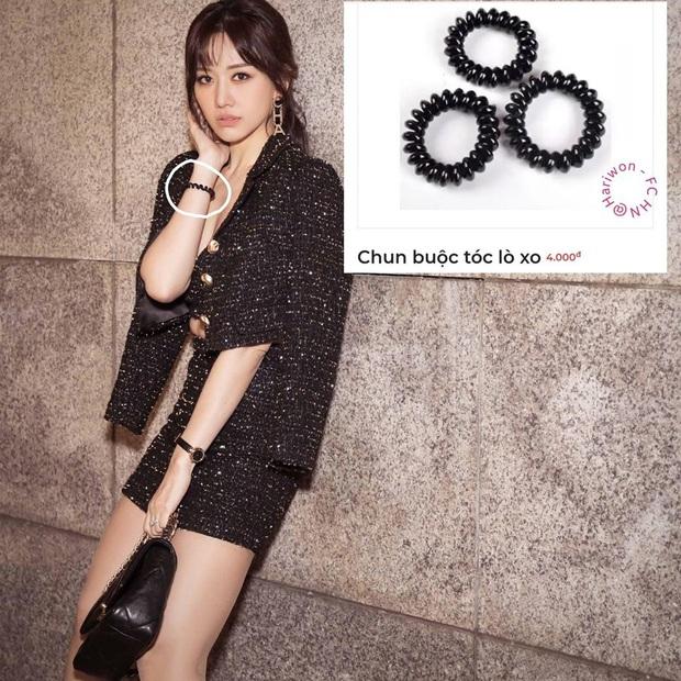 Đến thua Hari Won: Chụp ảnh thời trang toàn đồ hiệu mà trên tay vẫn đeo dây buộc tóc lò xo hàng chợ, nhưng nom lại ton sur ton - Ảnh 3.